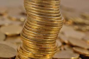 pièces de monnaie se bouchent photo