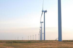 parc éolien de près photo
