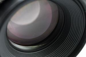 gros plan de l'objectif de la caméra