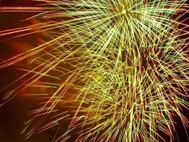 spectacle de feux d'artifice, gros plan