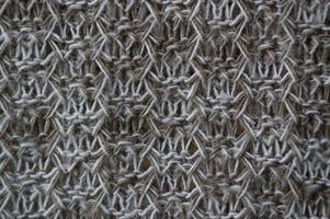 matériel tricoté bouchent photo