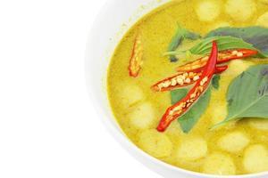 gros plan, vert, curry