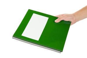 manuel scolaire vert photo