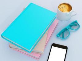 modèle de maquette de livre de couleur vide photo