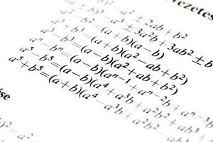 formules d'algèbre