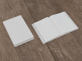 maquette du livre avec une couverture blanche photo