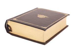 couverture de livre isolé sur fond blanc photo