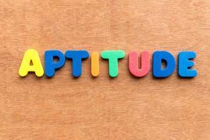 aptitude photo
