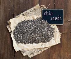 graines de chia avec petit tableau noir photo