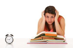 épuisé d'étudier