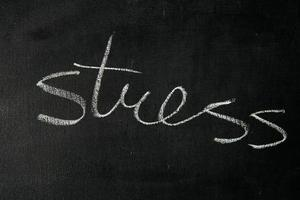 """""""stress"""" sur tableau noir photo"""