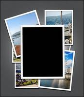 cadre photo vide, fond de photos de voyage - tracé de détourage