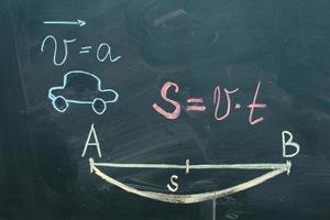 test mathématique sur le tableau noir