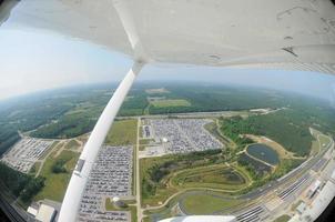 vue aérienne de l'usine de fabrication automobile photo