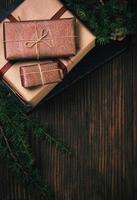 décorations et cadeaux de Noël photo