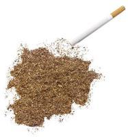 cigarette et tabac en forme d'Andorre (série) photo