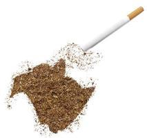 cigarette et tabac en forme de nouveau-brunswick (série) photo