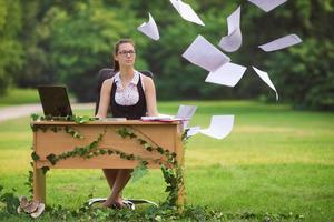 bureau dans la nature photo