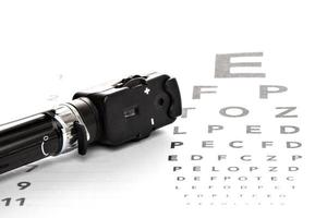 ophthalmoskop, augenspiegel, sehtest photo