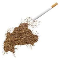 cigarette et tabac en forme de burkina faso (série) photo