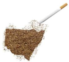 cigarette et tabac en forme de nouvelle-galles du sud (série) photo