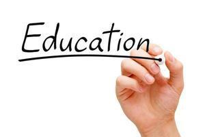 marqueur noir de l'éducation photo