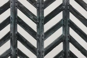 mur de maison tudor à moitié en bois bois fort forme zig zag photo