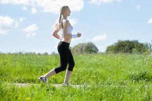 portrait, jeune, femme, jogging photo