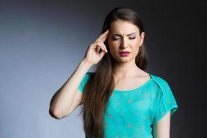 horrible crise de migraine photo