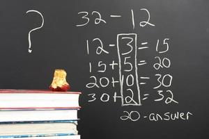 remettre en question les nouveaux mathématiques. photo