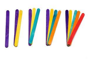 mathématiques avec des bâtons en éventail photo