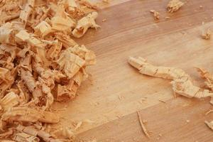 porte-copeaux de copeaux de bois franc sapele photo
