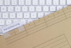 assurance clavier et dossier photo