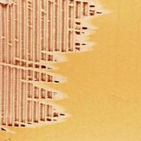 fond de feuille de carton ondulé brun