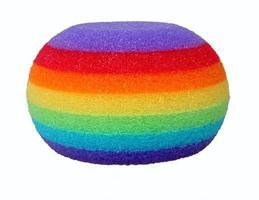 éponge de bain colorée photo