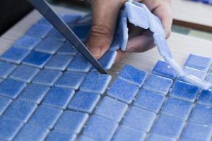 fabrication de carreaux de mosaïque photo