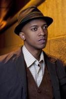 afro-américain vingt quelque chose de mâle photo