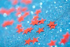 macro photo d'étoiles de noël