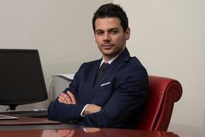 portrait d'homme d'affaires confiant photo