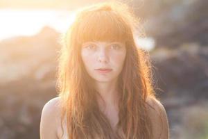 gokarna_redhair_sunlight photo