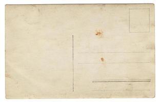 carte postale ancienne au verso photo