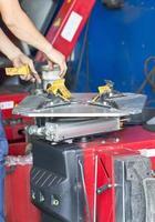 machine de montage de pneus photo