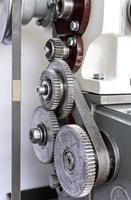 roues dentées métalliques du tour