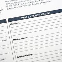 formulaire médical photo
