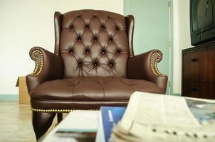 chaise de patron de bureau de luxe photo