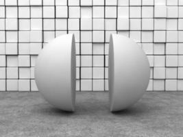 demi-sphère blanche photo
