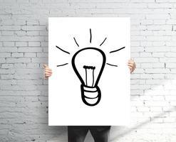 affiche avec lampe à dessin photo
