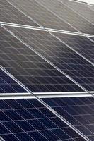 panneaux solaires bleus photo