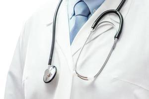 symbole médical - médecin avec stéthoscope photo