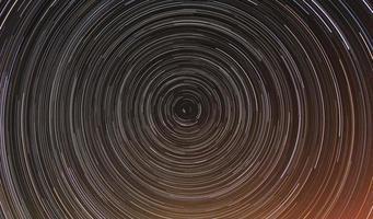 laps de temps cumulé des traînées d'étoiles.